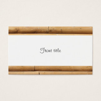Fundo do tapume da cabana rústica de madeira do cartão de visitas