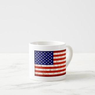 Fundo do triângulo da bandeira dos EUA Xícara De Espresso