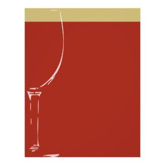 Fundo do vidro de vinho panfletos personalizado