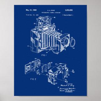 Fundo dos azuis marinhos do poster da patente da