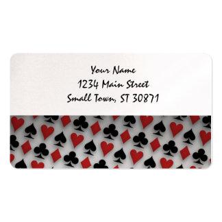 Fundo dos diamantes dos clubes dos corações das cartão de visita