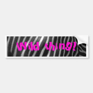 fundo e texto selvagens da zebra adesivos