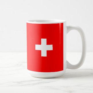 Fundo editável, a bandeira da suiça caneca de café