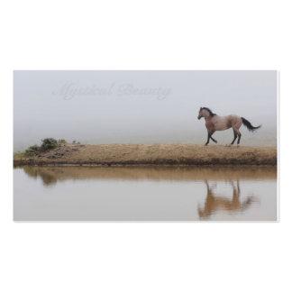 Fundo feito sob encomenda da imagem do cavalo para cartão de visita
