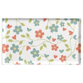 fundo floral suportes para cartao de mesa