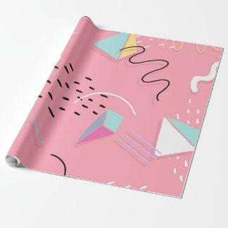Fundo geométrico artístico colorido papel de presente