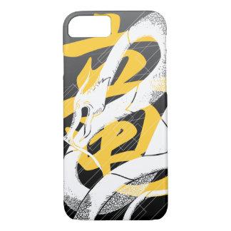 Fundo japonês branco do preto do dragão capa iPhone 7