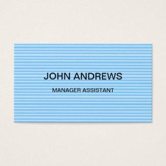 Fundo listrado azul moderno agradável da ocupação cartão de visitas