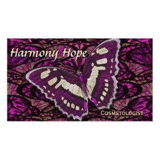 Fundo lunático da borboleta cartão de visita