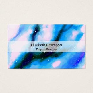 Fundo marmoreado azul do abstrato do espaço cartão de visitas