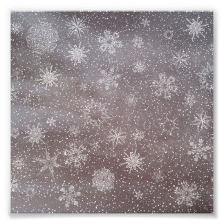 Fundo nevado do dia escuro do inverno - 3D rendem Impressão De Foto