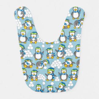 Fundo pequeno dos pinguins babadores