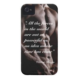 Fundo poderoso do corpo das citações de Victor Capas Para iPhone 4 Case-Mate