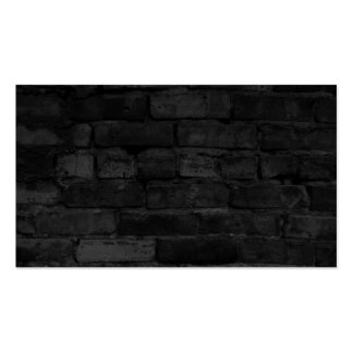 Fundo preto da parede de tijolo cartão de visita