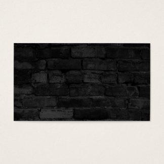 Fundo preto da parede de tijolo cartão de visitas