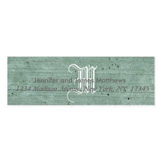 fundo real cartão de visita skinny