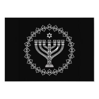 Fundo religioso judaico com Menorah Convite 12.7 X 17.78cm