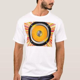 Fundo retro do auto-falante camiseta