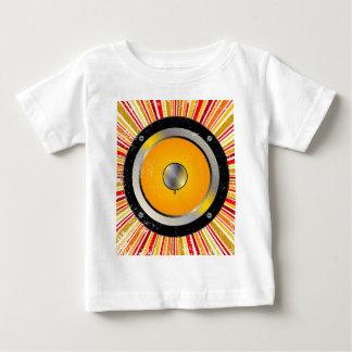 Fundo retro do auto-falante camiseta para bebê