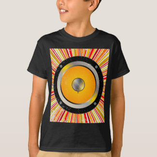 Fundo retro do auto-falante t-shirts