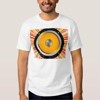 Fundo retro do auto-falante tshirt