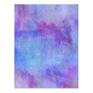 Fundo roxo da aguarela da cerceta violeta cartão postal