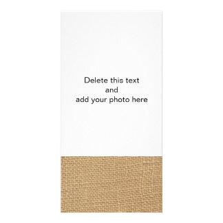 Fundo rústico de serapilheira impresso cartoes com foto personalizados