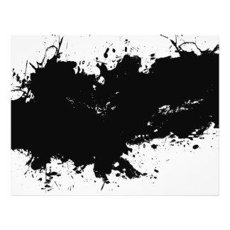 Fundo Splattered sujo da tinta Panfleto Coloridos