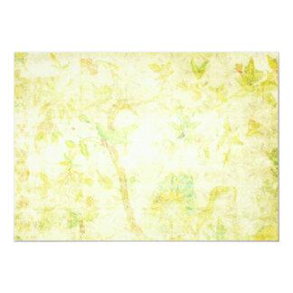 Fundo tropical floral do paraíso amarelo convites