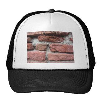 Fundo velho da parede de tijolo boné