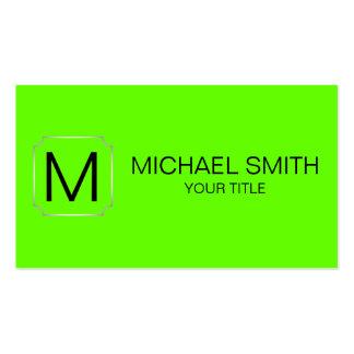 Fundo verde-claro da cor cartão de visita