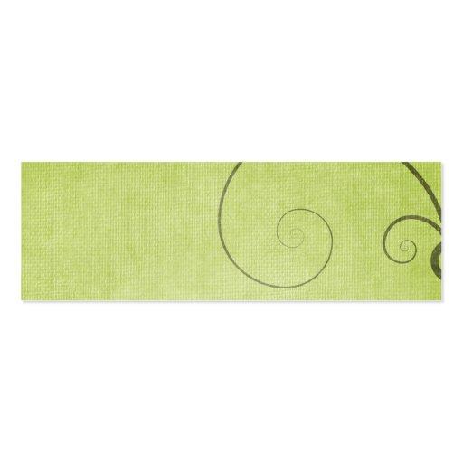 Fundo verde-claro do redemoinho modelos cartões de visitas