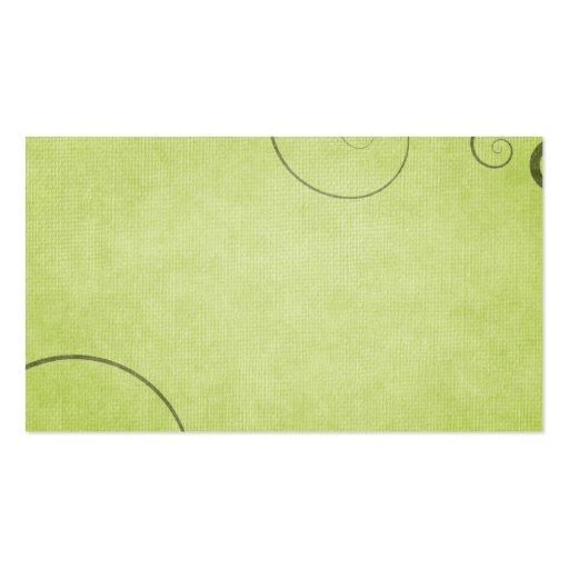 Fundo verde-claro do redemoinho modelo de cartões de visita