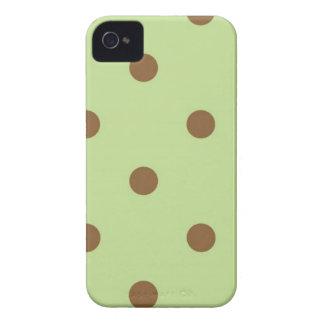 Fundo verde das bolinhas de Brown Capinha iPhone 4