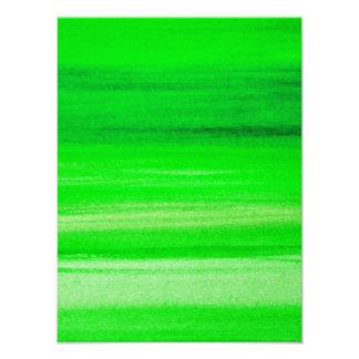 Fundo verde de néon do abstrato da aguarela do con impressão de foto