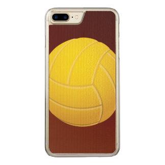Fundo vermelho da terra do voleibol amarelo capa iPhone 7 plus carved