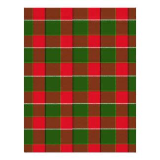 Fundo vermelho e verde do tecido da xadrez modelo de panfletos