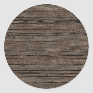Fundos de madeira resistidos A madeira Textures o Adesivo Redondo