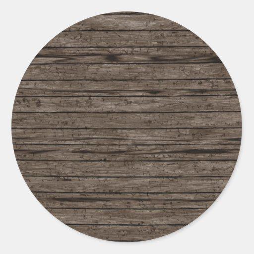 Fundos de madeira resistidos. A madeira Textures o Adesivo Redondo