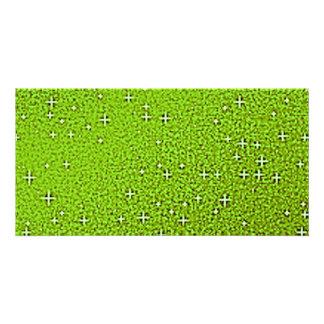 Fundos verdes do brilho cartão com foto