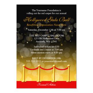 Fundraiser moderno de Hollywood do tapete vermelho Convite 12.7 X 17.78cm