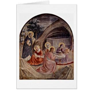 Funeral por Fra Angelico Cartão