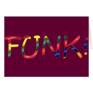 Funk Cartão Comemorativo