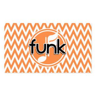 Funk; Chevron alaranjado e branco Cartão De Visita