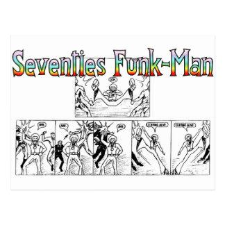 Funk-Man dos anos setenta Cartão Postal