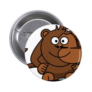 Funny Monkey/Engraçado de macaco Bóton Redondo 5.08cm