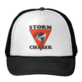 Furacão do caçador da tempestade e triângulo boné