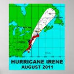Furacão Irene trajeto impressão 36 b do poster do