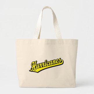 Furacões no amarelo bolsas de lona