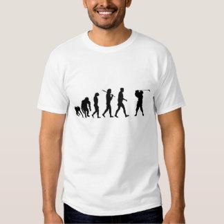 Furo das camisas dos jogadores de golfe em uma tshirts